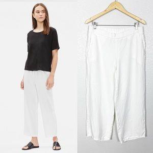 Eileen Fisher Organic Linen Straight Crop Pant S